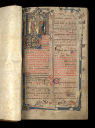Advent hymns and prayers, in the Penwortham Breviary